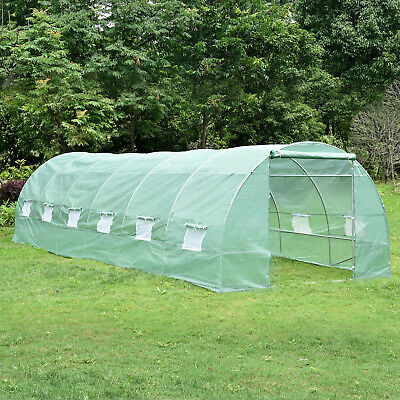 26'x10'x7' Large Size Greenhouse Walk In Hot Green House Plant Gardening