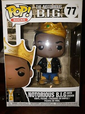 Funko Pop! Rocks Music Notorious B.i.g. With Crown Pop Figure (In Stock)