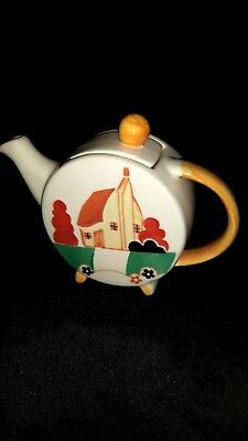 Vintage Clarice Cliff style Tea pot