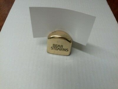 Bear Stearns Card Holder -  Very Rare!