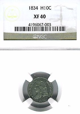 1834 Capped Bust Half Dime : NGC XF40
