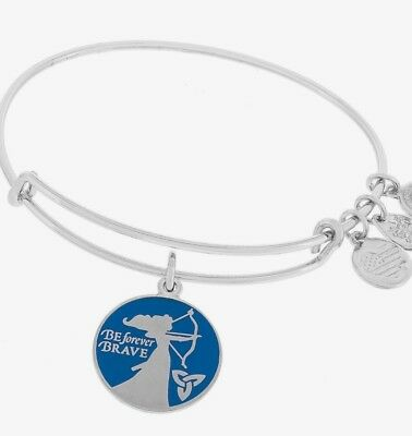 New Disney Parks Silver Merida Be Forever Brave Alex and Ani Bangle Bracelet