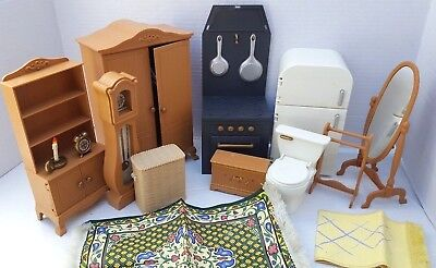 Madeline Dollhouse Doll House Furniture Living Room Kitchen Bedroom Acc. LOT