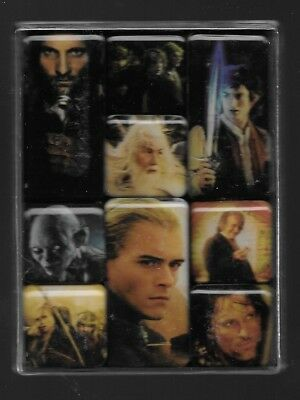 LOTR Lord of the Rings Return of King Nine Magnet set NIP