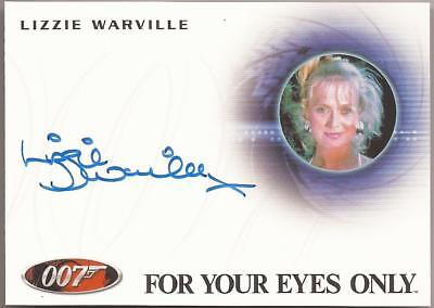 2014 007 James Bond Archives Lizzie Warville autograph A249 Poor Girl Your Eyes