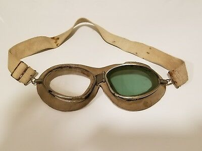 Wwii Us Pilot Goggles Marked Chas Fisher Spring Co.