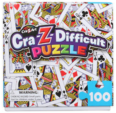 NEW Cra-Z-Difficult 100 Piece Puzzle House of Cards Fun Gift Idea by Cra-Z-Art!