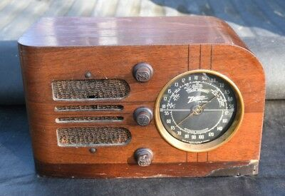 1938 Zenith 6-D-219 tube radio, great resto project, VG cond.