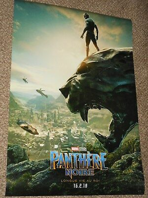 "Black Panther ""FRENCH VER A"" 27x40 Original D/S Movie Poster"