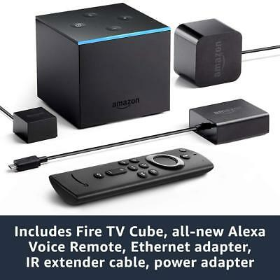 Fire TV Cube Hands-Free with Alexa & ALL-NEW 4K Ultra HD Alexa Voice Remote