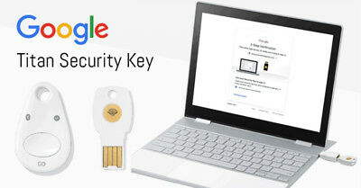Google Titan Security Key Bundle U2F FIDO USB/NFC/BT 2FA + Worldwide Shipping