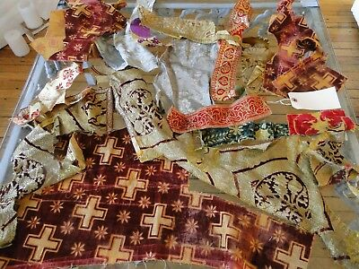 Antique Textiles - Assorted Early  Textile Fragments # 3