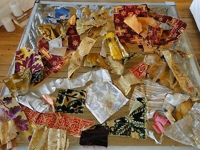 Antique Textiles - Assorted Early  Textile Fragments #  4