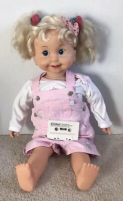 "Vintage 1985 Cricket 24"" Doll W/ Tape Tested & Working"