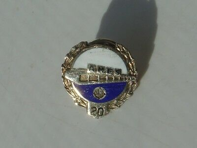 Vtg 20 Years Ames Department Store Sterling Silver Diamond Service Award Pin