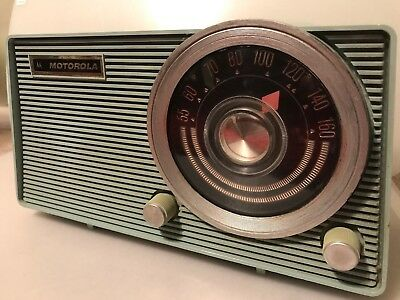 Vintage Retro Large Dial Motorola Tube Radio Model A11A Baby Blue Works Great