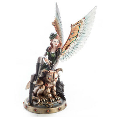 Steampunk Fairy with Gargoyle - Steampunk - Gothic