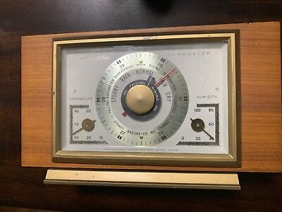 Vintage Mid-Century Airguide Barometer Weather Station with Free Shipping!