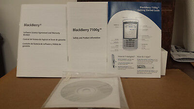 Blackberry 7100g Cellphone Manual, Desktop Software, & Getting Started Guide