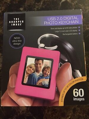 Sharper Image USB 2.0 Digital Photo Keychain Pink