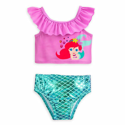 eca7f5c929 Disney Store Ariel 2 Piece Swimsuit for Baby The Little Mermaid Size 3 6  Months