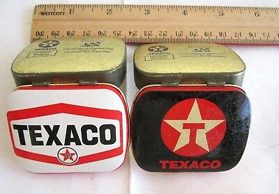 2 TEXACO Tins/Set-New,Empty Pill/Mint Box, Old Vintage Stack,Hard Find,Sale,Rare