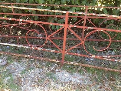 RETRO Wrought Iron Balustrade 11840 mm total length X 565 mm Height Very solid