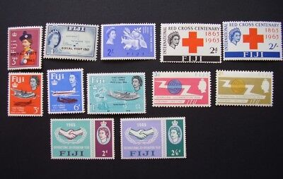 FIJI various stamps from the 1960s incl. red cross, royal visit etc