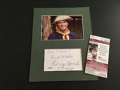 Larry Storch Signed Index Card JSA Authenticated Autograph F Troop Cpl. Agarn
