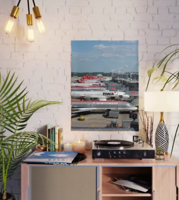 "Northwest Airlines MSP Gate Lineup - 18"" x 24"" Poster"