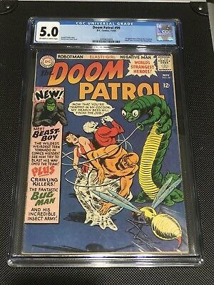 Cgc 5.0 Doom Patrol #99 D.c. Comics 1965 1St Appearance Of Beast Boy Changeling