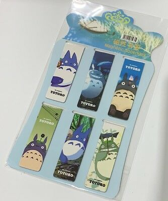 Set of 6 - My Neigbour TOTORO Magnetic Magnet Bookmark / D-clip / Paper Clip