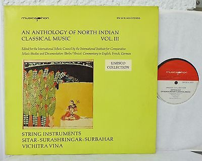 Anthology Of NORTH INDIAN Classical Music Vol. III 3  Bärenreiter LP  Indien