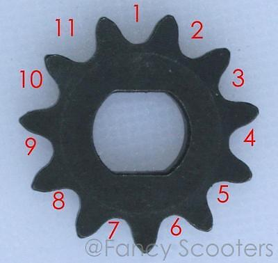 25H x 11 Teeth, Double D @10MM FRONT Drive Sprocket PART07107