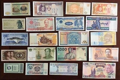 20 Different Mix World Banknotes Unc Lot41