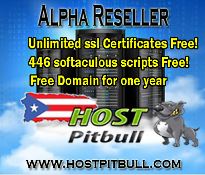 Alpha Reseller for one year + Free Domain! + Unlimited SSL Certificates