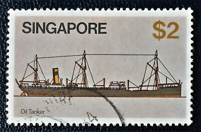 Singapore - Singapour - 1980 Definitive Ships 2 $ Oil Tanker used (27) -