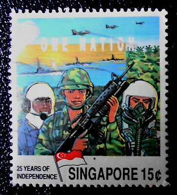 Singapore - Singapour - 1990 25th Anniversary Of Independence 15c used (20) -