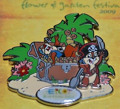 Wdw Chip Dale Pirates Epcot Flower Garden Festival 2009 Disney Le Pin 68891 Noc