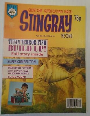 STINGRAY The comic no 14 1993   W A S P.   with peter pan video add on back