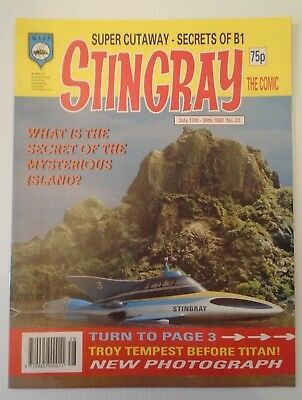 STINGRAY The comic no 21 1993   W A S P.  with super mario bros figure back