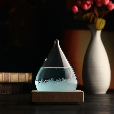 Christmas Xmas Gift Weather Forecast Crystal Drop Blue Water Storm Glass Decor