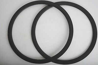 Carbon rims 38mm, front and rear set, 20/24 holes for tubular wheels, basalt