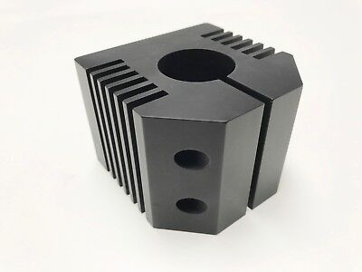 Clamping Bracket 33mm black aluminium, spindle cooling