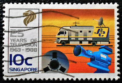 Singapore - Singapour - 1988 25 years of Television in Singapore 10c used (26) -