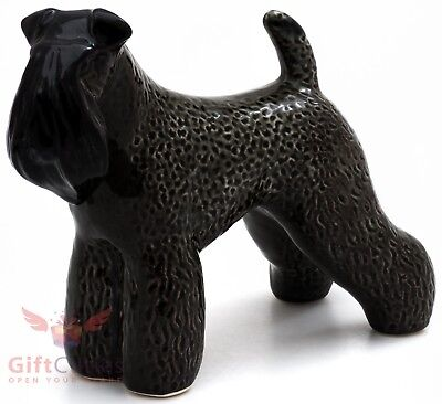 Porcelain Figurine of the Kerry Blue Terrier dog