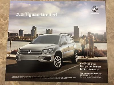 2018 VW TIGUAN LIMITED 4-page Original Sales Brochure Mint Never Opened LooK !!!