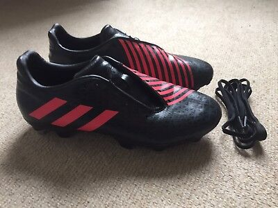 Adidas Malice men's rugby boots in black/red - size 6