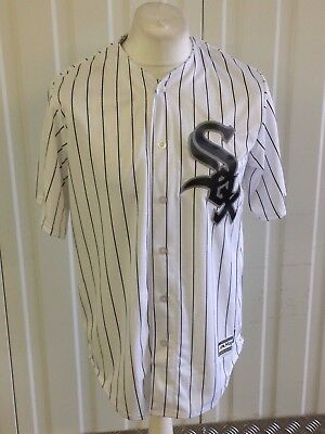 Majestic MLB Chicago White Sox Coolbase Baseball Jersey in White Size M