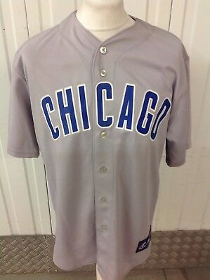 Majestic MLB Chicago Cubs Baseball Jersey in Grey Size L